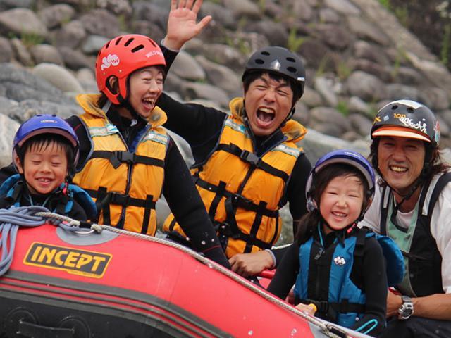 ラフティング ファミリーで家族でラフティングを楽しめる【4名以上ボート貸切】 イメージ